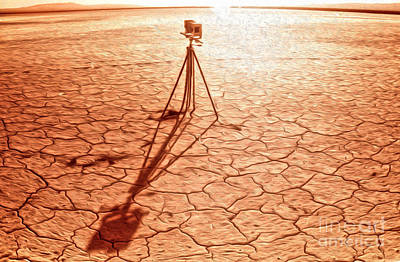 Dry Lake Photography Print by Gregory Dyer