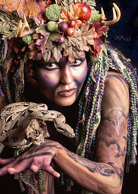 Body Paint Photograph - Dryad Iv by David April