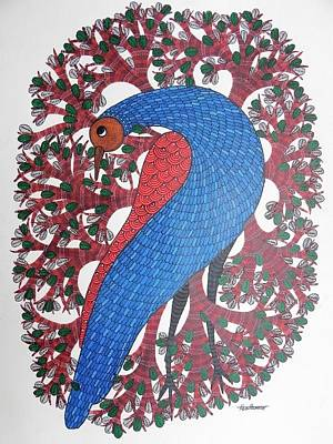 Gond Art Gallery Painting - Ds 512 by Dilip Shyam