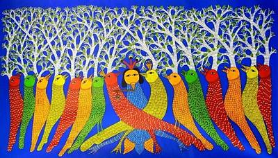 Gond Artist Painting - Ds 532 by Dilip Shyam