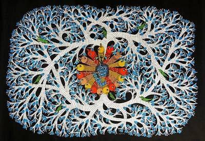 Gond Artist Painting - Ds 534 by Dilip Shyam