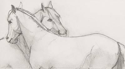 Dual Massage Sketch Print by Jani Freimann