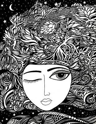 Artichoke Drawing - Duality I by Jody Pham