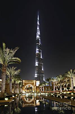 Dubai At Night Print by Lars Ruecker