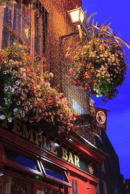 Multihued Photograph - Dublin, Ireland Temple Bar Area by Tom Norring