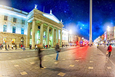City Scenes Photograph - Dublin's O'connell Street In Motion by Mark E Tisdale