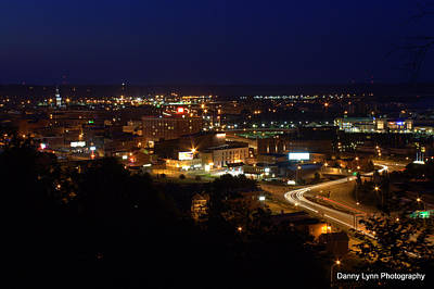 Photograph - Dubuque At Night by Dan  Dickerson