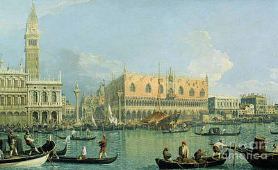 Campanile Painting - Ducal Palace   Venice by Canaletto