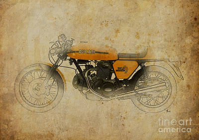 Open Mixed Media - Ducati 750 Sport 1973 by Pablo Franchi