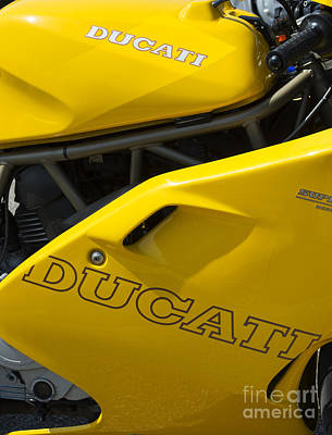Bicycle Photograph - Ducati Desmodue Motorcycle  by Tim Gainey