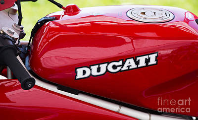 Bicycle Photograph - Ducati Motorcycle  by Tim Gainey