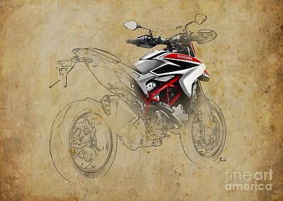 Motorcycle Mixed Media - Ducati Xii by Pablo Franchi
