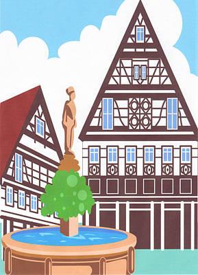 Dutch Architechure Print by Pat Mchale