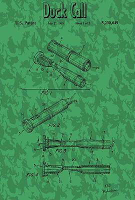 Duck Mixed Media - Duck Commander Duck Call Patent by Dan Sproul