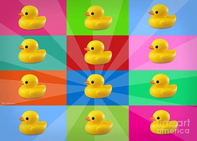 Ducks  Print by Mark Ashkenazi