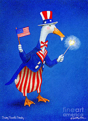 Uncle Sam Painting - Ducky Doodle Dandy... by Will Bullas