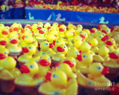 Ducky's Float Print by Sonja Quintero