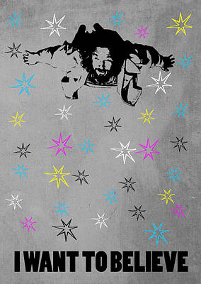 Persian Carpet Digital Art - Dude I Want To Believe 3 by Filippo B