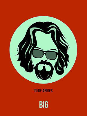 Lebowski Drawing - Dude Poster 2 by Naxart Studio