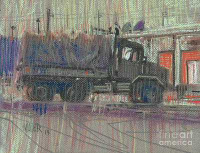 Truck Drawing - Duece And A Half by Donald Maier