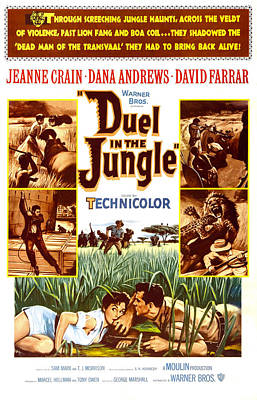 Duel In The Jungle, Us Poster, Bottom Print by Everett