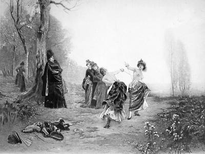 Fencing Painting - Dueling, 19th Century by Granger