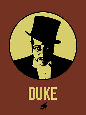 Jazz Mixed Media - Duke Poster 1 by Naxart Studio