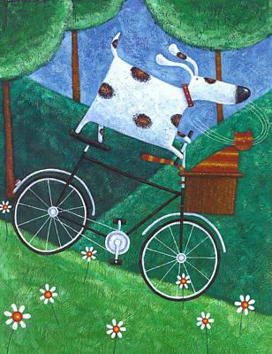 Dukes Bike Ride Print by Peter Adderley
