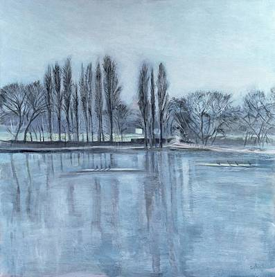 Rugby Photograph - Dukes Meadows, Towards Putney-on-thames Acrylic On Canvas by Sophia Elliot