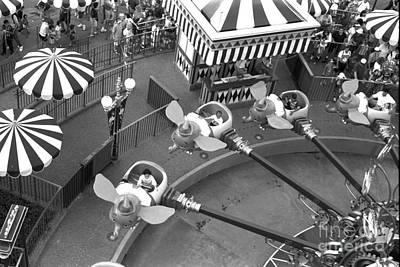 Orlando Photograph - Dumbo Ride Disney World Circa 1995 by Edward Fielding