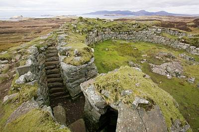Dun Beag Broch On The Isle Of Skye Print by Ashley Cooper