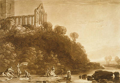 Laundry Painting - Dunblane Abbey by Joseph Mallord William Turner