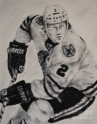 Chicago Blackhawks Drawing - Duncan Keith by Tim Brandt