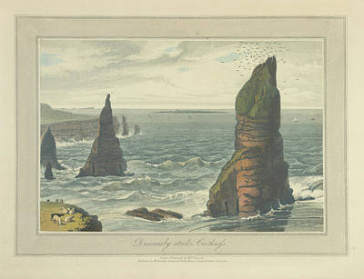 Duncansby Stacks In Caithness Print by British Library