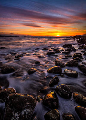 Froth Photograph - Dundarave Park Sunset by Alexis Birkill