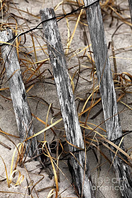 Old School Houses Photograph - Dune Fence Vi by John Rizzuto