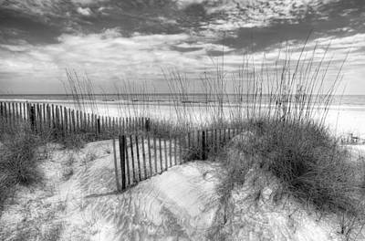Tidal Photograph - Dune Fences by Debra and Dave Vanderlaan