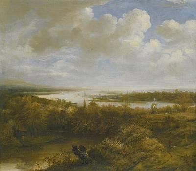 River Painting - Dune Landscape by Celestial Images