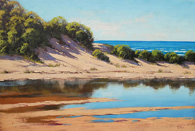 Sand Dunes Painting - Dune Reflections by Graham Gercken