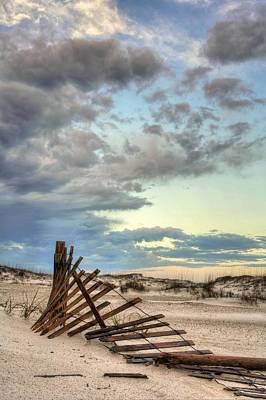 Dunes Of Navarre Beach Print by JC Findley