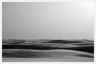 Benchmark Photograph - Dunes White Sands National Monument New Mexico  by Mark Goebel