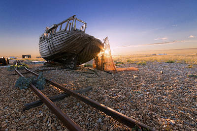 Dungeness Boat Print by Ian Hufton
