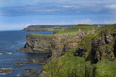 Waves Photograph - Dunluce Castle by Betsy C Knapp