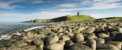 Dunstanburgh Castle Panorama Print by David Head