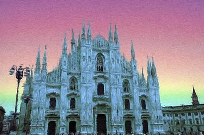 Crosses Painting - Duomo Di Milano by Jeff Kolker