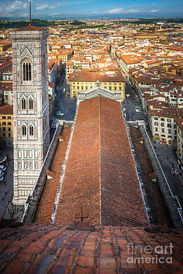 Duomo From Above Print by Inge Johnsson