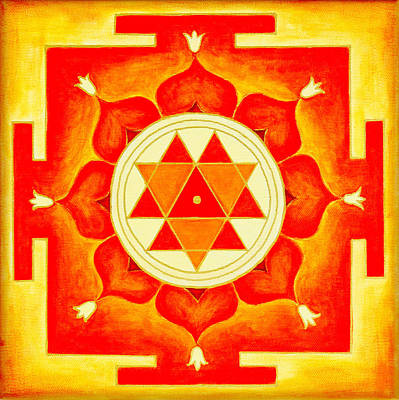 Durga Yantra Is A Powerful Yantra For Transformation Of Consciousness Print by Raimond Klavins