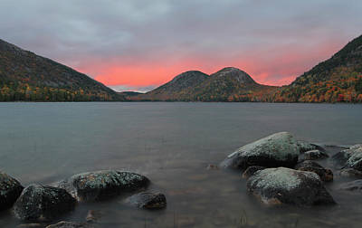 Dusk At Jordan Pond And The Bubbles Print by Juergen Roth