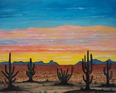 Dusk At Sonoran Desert Print by Jorge Cristopulos