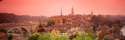 Rooftop Photograph - Dusk Bern Switzerland by Panoramic Images